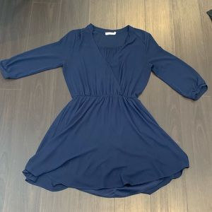 Lush blue mini dress - gently worn, size S